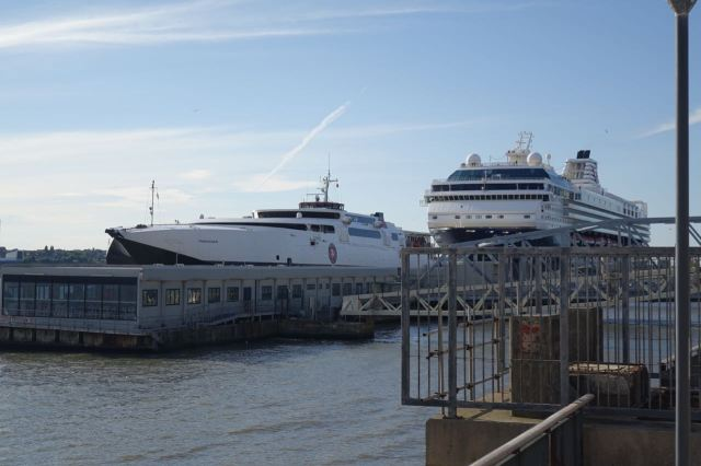 Not everyone's suffering though. The big ferries are here.