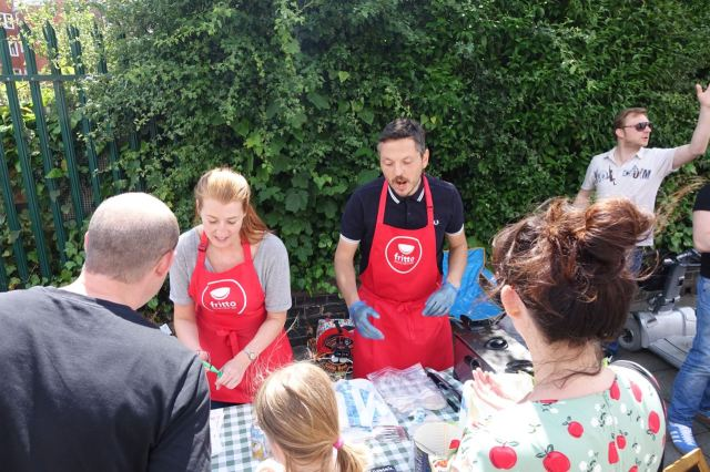 Another new stall here that did a roaring trade all day, Italian Streetfood.