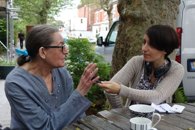 Hazel Tilley, CLT Board Member, tells our story to a Radio Merseyside reporter.