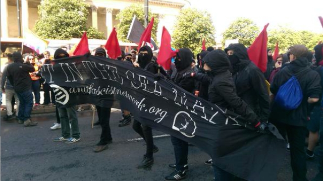 The Anti Fascist Network in Liverpool today.