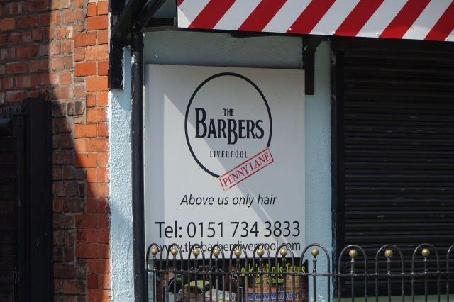 Not the barber's in the song, but  good slogan.