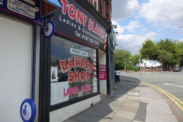 Anyway, just round the corner from home is the barber's out of the song.