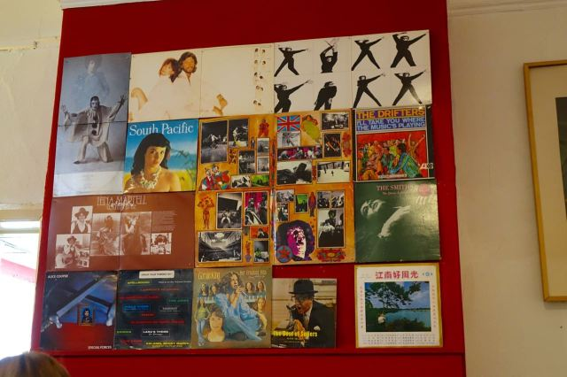As ever I admire the current display of LP sleeves.