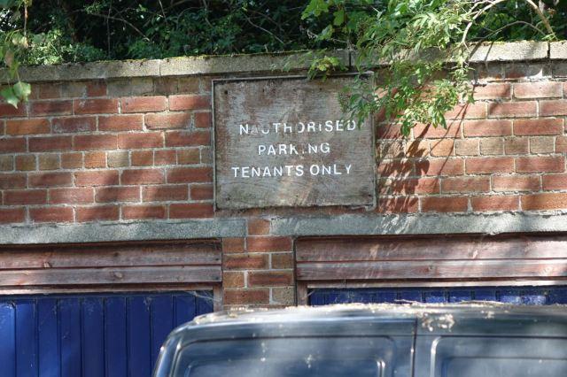 Ancient municipal signage.