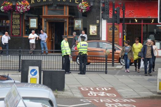 And though there are still a good few police around.