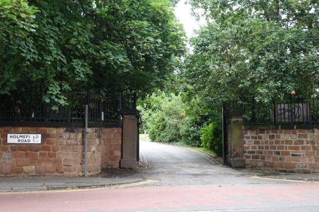 The gates of Holmfield today.