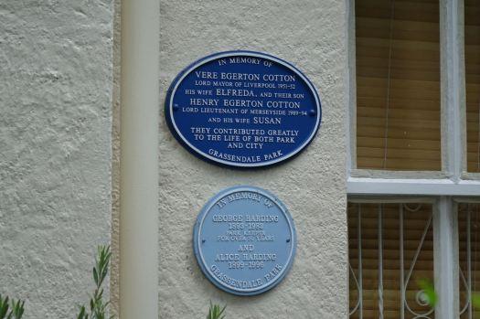 Past the memorial plaques.