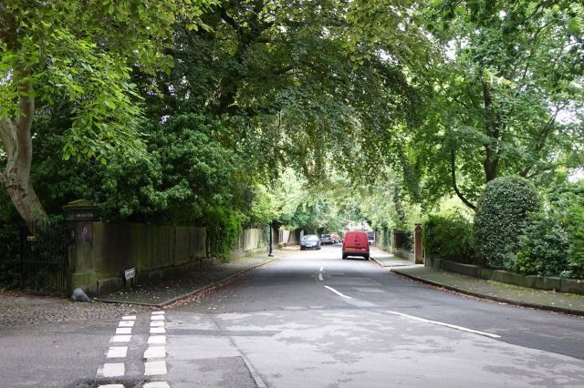 And here it still is a leafy enclave.