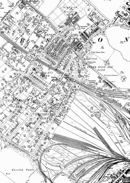 OS Godfrey Edition map of round here in 1905.
