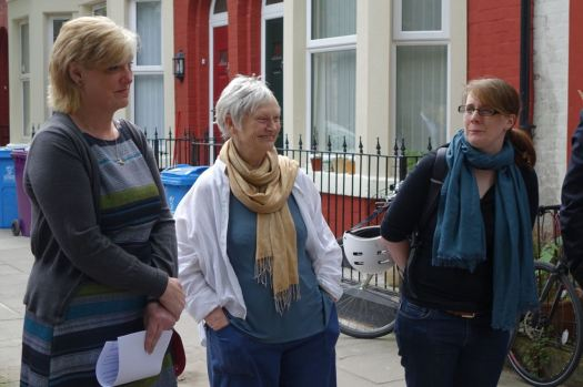 Some of the partners. Councillor Ann O'Byrne, Deputy Mayor of Liverpool, Eleanor Lee of Granby 4 Streets and Marianne Heaslip of Terrace 21 Co-op.