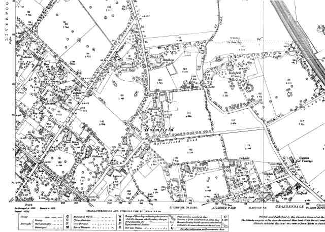 The 1905 Godfrey OS map of around here.