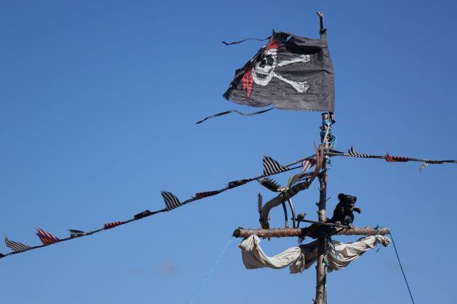 No it's a pirate ship!