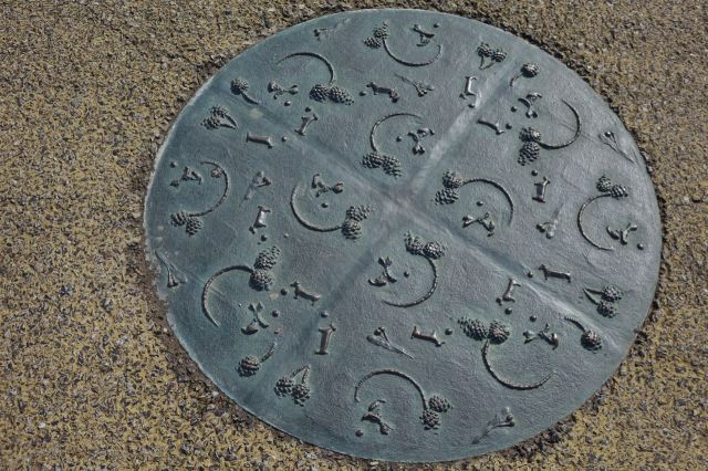 This side there are gorgeous drain covers like this.