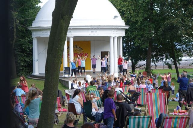 And in Vale Park the children are having a great time.