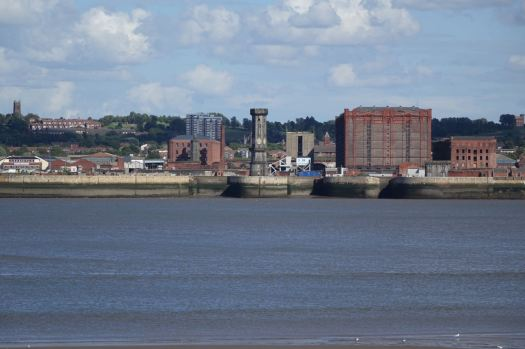 The Stanley Dock. That blue thing is the first Bascule Bridge of the day. Just wait.