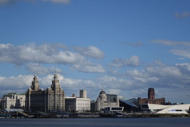 From Seacombe, quite possibly the best view of the Liverpool Waterfront on Earth.
