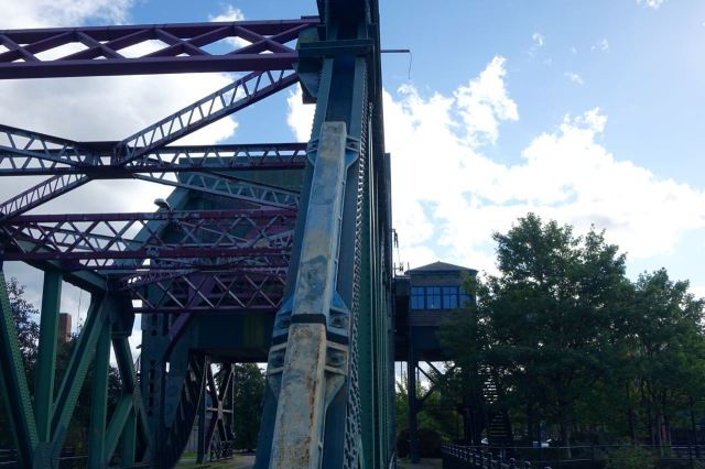 A big treat for fans of unusual swing bridges.