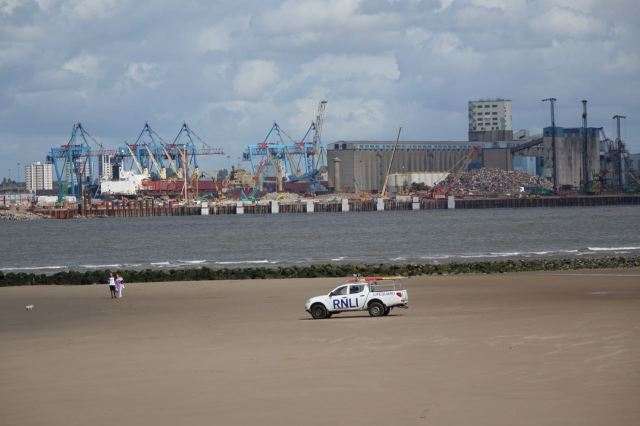 Looking across the river, it's clear how much of Liverpool's trade at the moment is in scrap.