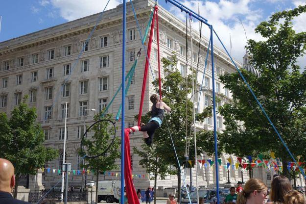 Acrobatics too.