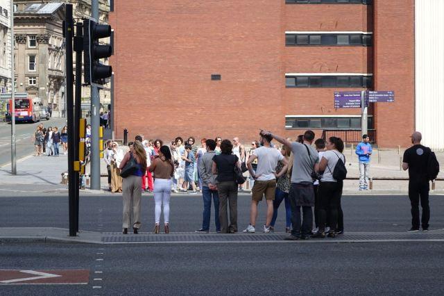 Crossing Strand Street.
