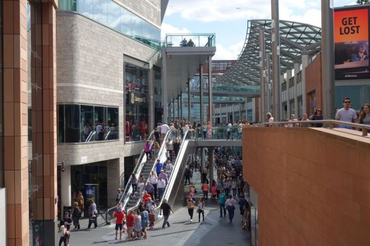 On into Liverpool One.