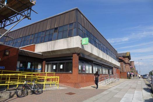 Next door is the savagely brutalist 1970s Job Centre. Not Heritage it seems.