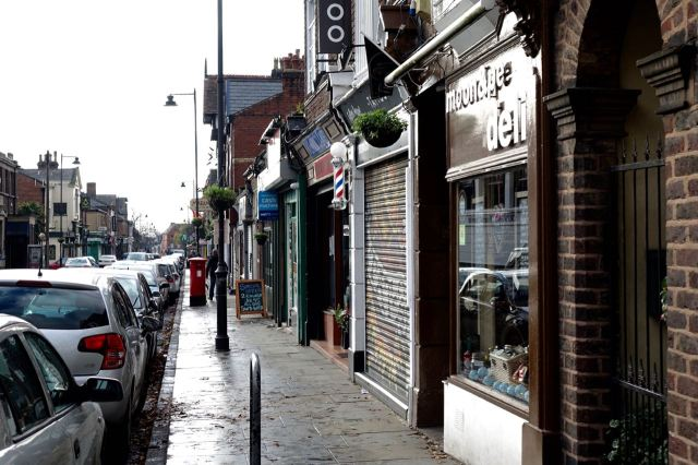 Fairly quier on Lark Lane this morning.