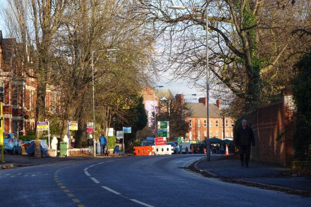 For roadworks now close to being finished.