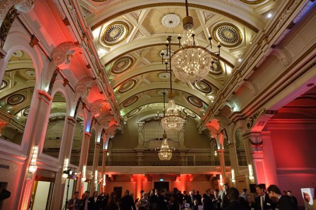 At the 9very0 Grand Connaught Rooms in London.
