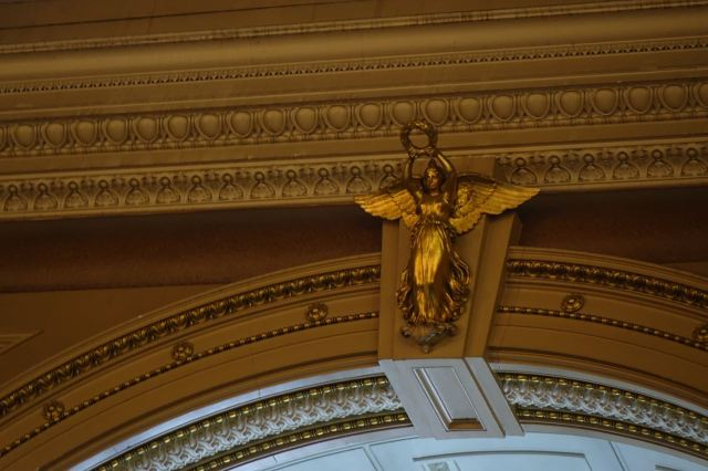 Watched over by a golden guardian angel.