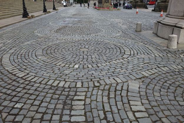 Even the pattern of the cobbles outside match the precious tiles inside.