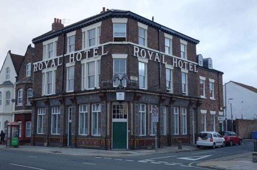 The Royal, a closed pub turned into the inevitable student housing.