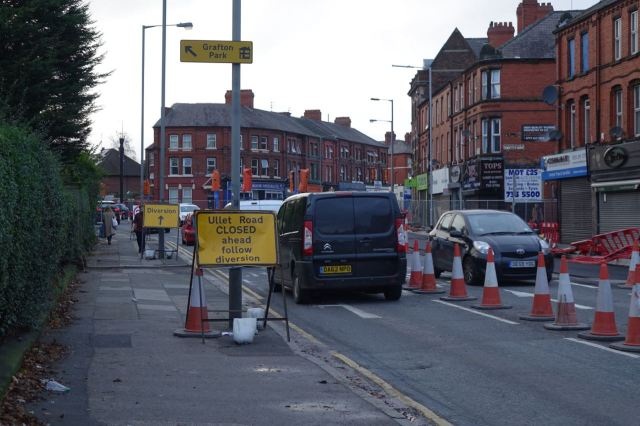 Road works still going at the junction of Ullet and Smithdown.