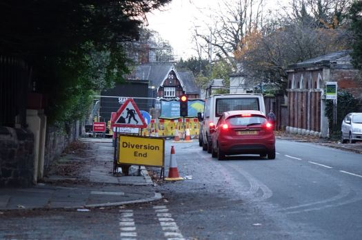 More roadworks hindering access to Ullet Road.