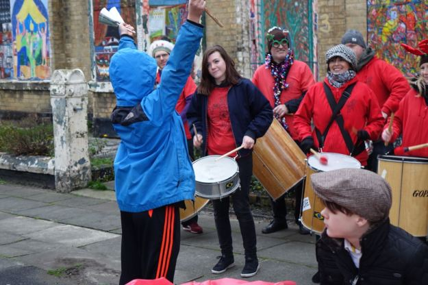 And the drumming seemed to warm things up.