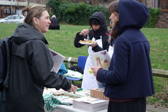 Here feeding the Granby Workshop team.