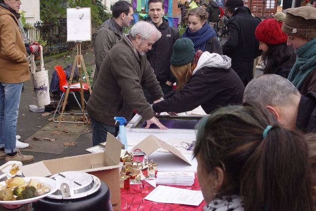 The 4 Streets Screen printing team of 'Hannah and her dad' will be back.