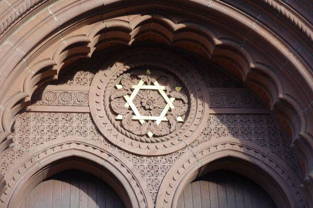 The Mosque's just along Mulgrave Street and of course there's the gorgeous Synagogue here.