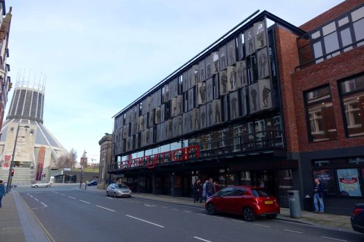 At The Everyman it's Panto time, lots of excited children on their way into the matinée performance.