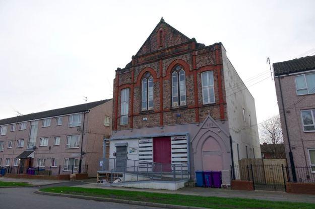 Further along Windsor Street, the L8 Community Hub.