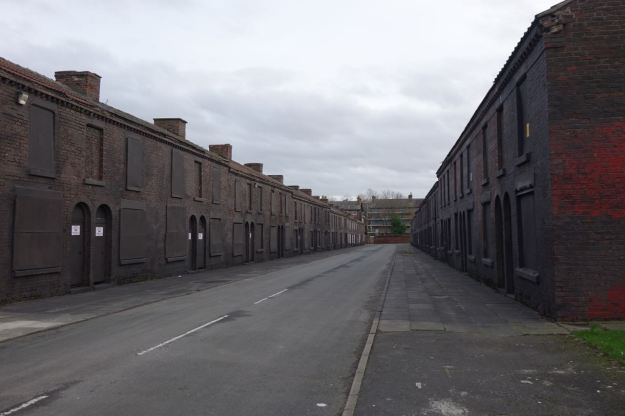 Powis Street. Left blighted by two series of Peaky Blinders.
