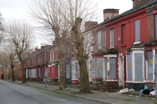Street after street of 400 empty homes.
