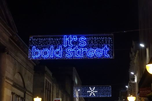The lights of Bold Street.
