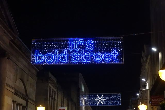 The lights of Bold Street.