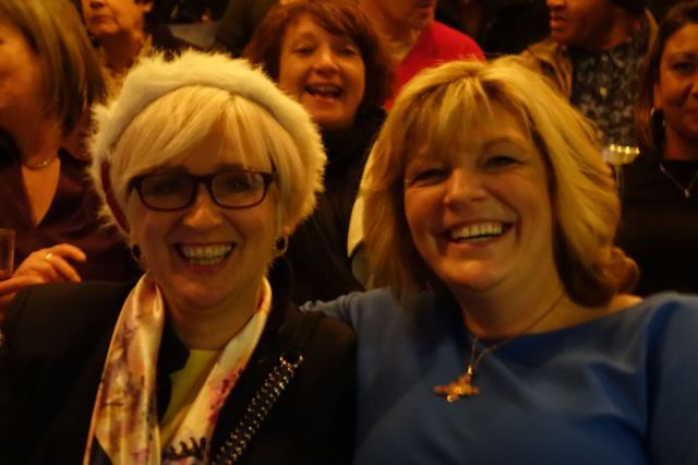 Erika and Ann are smiling and laughing but we re all anxious.