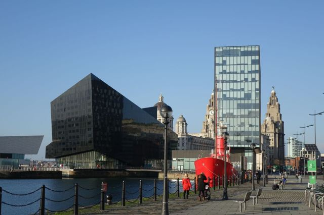 Here at the waterfront and along in the Baltic.