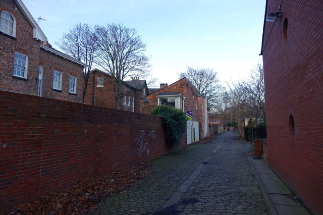Past the little ginnel of Linhope Way.