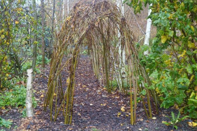 But there's this living willow structure that also doubles as a bird hide.