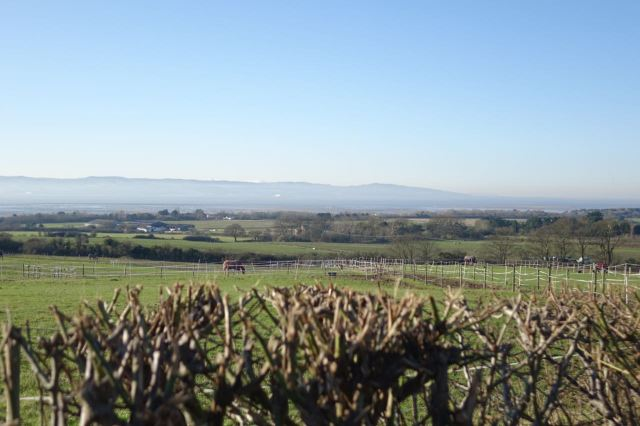Up the hill next for our first view of the Dee Estuary and the Welsh Hills, some snow topped.