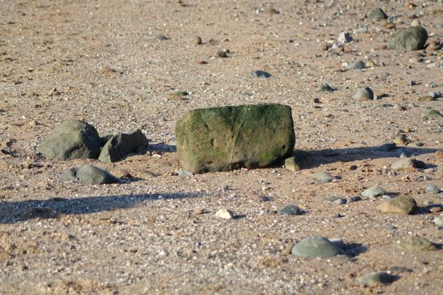 Even bits of old gateposts coming down from the cliff tops.